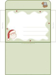 printable christmas envelope | Envelope | Christmas Printables