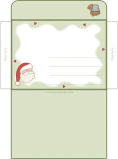 printable christmas envelope | Envelope | Christmas Printables