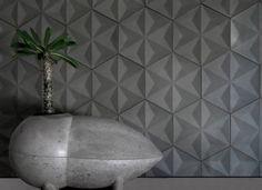 Mosaico con relieves geométricos