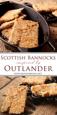 Scottish Bannocks Inspired by Outlander Scottish Dishes, Scottish Recipes, Scottish Bannock Recipe, How To Make Bread, Food To Make, Outlander Recipes, Wheat Free Baking, Irish Dinner, New Recipes