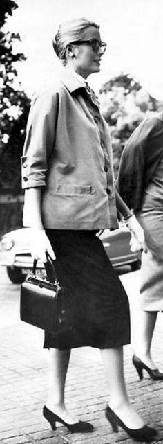 hermas bags - Grace Kelly and her Kelly bag | Black & White | Pinterest | Grace ...