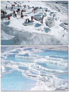 #6 La cascada blanca de Pamukkale, Turquía.  Y aunque parece nieve, solo es piedra caliza blanca. Encantador lugar!