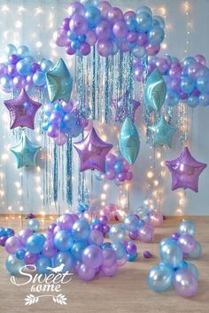 These balloons would make the perfect addition to any mermaid party.