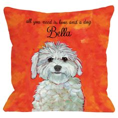 Personalized Love and Maltese Pillow at Joss and Main