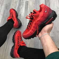 Top Tips, Tricks, And Techniques For The Perfect mens shoes Nike Red Sneakers, Red Nike Shoes, Casual Sneakers, Air Max Sneakers, Men's Shoes, Shoes Sneakers, Casual Shoes, Nike Air Max, Air Max 95