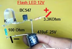 Flasher LED Engineering Technology, Electronic Engineering, Electrical Engineering, Electronics Basics, Electronics Gadgets, Electronics Projects, Electronic Circuit Design, Electronic Parts, Simple Circuit