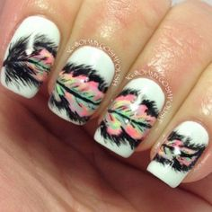 Creative Feather Nail Art Designs – Hative
