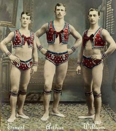 The Melvelle Brothers, circus acrobats