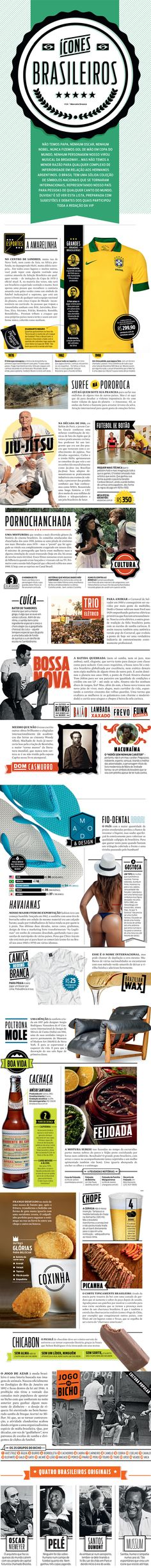 A Lesson in #Editorial #Layout & #Spread #Design   Ícones Brasileiros