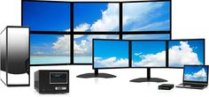 Here you see the Multi-screen monitor at good looking rate.