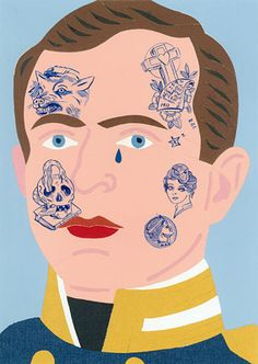 Gavin Hurley and Sam Mitchell | Scott | 2011 | paper collage and acrylic