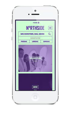 Northside 2014 Music Festival Mobile App | Neon Colors in User Interface Design #UI