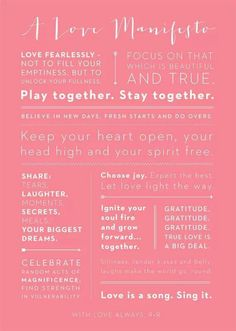 A Love Manifesto ~ I love you more than you'll ever know, Baby! Words and things to remember when you love someone so. Words Quotes, Wise Words, Me Quotes, Sayings, Married Life, Got Married, Love List, Romance, Choose Joy