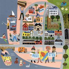 Jens Magnusson - Mariestad Map, sweden