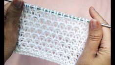 Crochet Poncho Patterns, Easy Knitting Patterns, Knitting Stitches, Baby Knitting, Knit Crochet, Simple Knitting, Knitted Baby Clothes, Knitted Bags, Knitting Videos