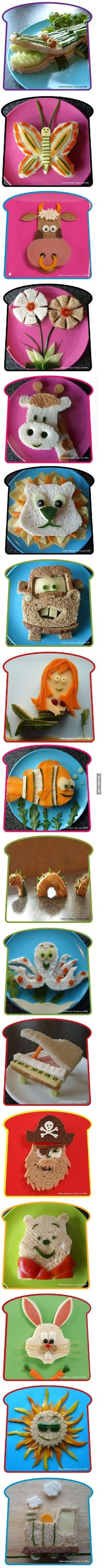 Parenting coaching _ It's all in the presentation - food art to inspire healthy eating - Kids - Bambini - Un modo creativo per indurre i bambini a mangiare in modo sano. Awesome kid lunch ideas