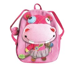 Eco Snoopers Plush Backpack Hippo - Made from recycled and environmentally friendly materials. #ecofriendly #gogreen