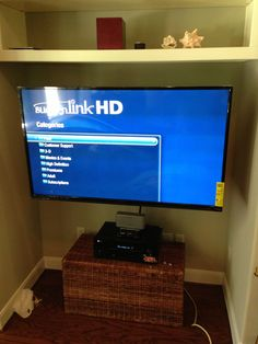 #tvinstallationhouston with a full motion mount, power cord and #hdmi cables concealed inside the wall, also speaker and digital box installed, in-wall wiring at no additional cost if there is nothing blocking the way through, call us and request your order at (281) 402-6777 or visit our website for more info about our extended warranties https://mymultimediatech.com