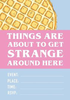 How to throw a mini stranger things party (+ free printable invite! Stranger Things Theme, Stranger Things Halloween, Stranger Things Aesthetic, Stranger Things Funny, 13th Birthday Parties, 14th Birthday, Birthday Ideas, Wedding Humor, Wedding Blog