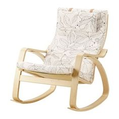 POÄNG Rocking chair, birch veneer, Vislanda black/white - birch veneer - IKEA