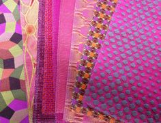 A selection of POLLACK fabrics in hot pink for spring.