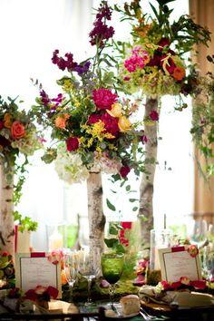 how intersting - birch, floral fun