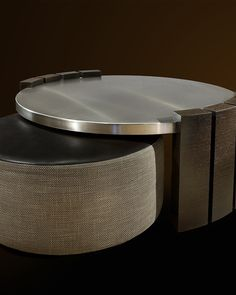 """Consider form and material, rhythm and repetition, composition and texture. The vertical element of think Wenge wood creates an interesting rhythm as it wraps the circular disc of 2"""" stainless steel plate. Winner: 2nd Place Residential Less than 3,500 sq ft, 2011 ASID Arizona North Chapter Design Excellence Award"""