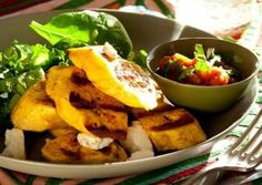 Grilled Plantains with Queso Fresco