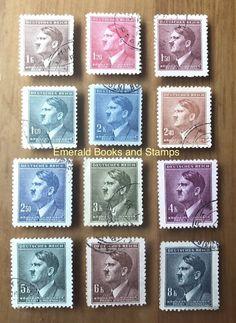 EBS Bohemia & Moravia Böhmen & Mähren 1942 Adolf Hitler Michel 95-106 U | eBay