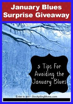 Enter to win the January Blues Surprise Giveaway at StockpilingMoms.com! I ENTERED! Thanks, Michele :)