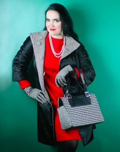 If you love classic color palettes, a flair for vintage and a little bit of sass, today's Fashionista Friday is the lady for you. She's got style, she's got class….and she got a stellar coat from Goodwill that's all the rage.