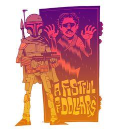 A Fistful of Dollars - Boba Fett & Han in Carbonite #StarWars