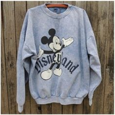 Vintage Acid Wash Mickey Disneyland Sweater 1990s acid wash sweater. Size is One Size Fits All. Sweaters Crew & Scoop Necks