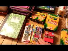 Back To School Supply Haul - YouTube -- how to save money