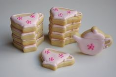 Flavours :: Tea set cookies, The Teeny Tiny Bakery Set Cookie, Tea Set, Cookie Decorating, Sugar Cookies, Tea Party, Tea Cups, Bakery, Artisan, Birthday