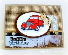 Happy Heart Studio: Masculine Birthday Card
