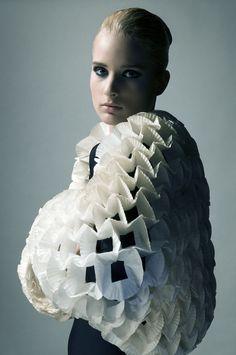 Angel | Geraldine Katona | Tamás Réthey-Prikkel #photography | hand crafted futuristic piece from Hungarian fashion designer Dora Kelemen