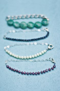 Half and Half Delicate Chain and Bead Bracelet Tutorial