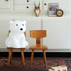 From the Miffy series, Nanuk the Polar bear LED lamp is great to use as a night light for kids and babies or reading light for adults. The Nanuk lamps has a variable LED dimmer and made in the Netherlands Polar Cub, Baby Polar Bears, Lampe Miffy, Lampe Decoration, Bear Nursery, Modern Kids, Kids Store, Kids Decor, Kids Furniture