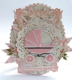 Jodi also created a baby card using the Kaisercraft collection and Cheery Lynn die available at www.scraptownlady.com