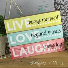 LIVE LOVE LAUGH | Wood Crafts