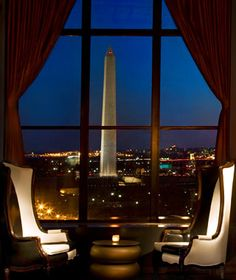 POV Bar in the W Hotel. Best Views of the White House. WASHINGTON DC
