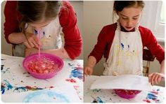 Bubble painting - a little messy but so much fun!
