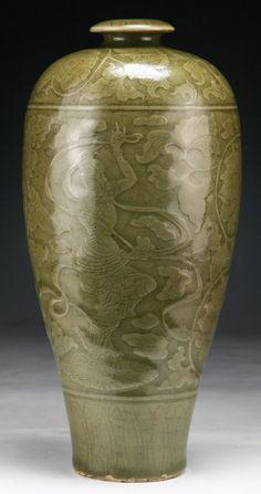 CHINESE__ A Rare Chinese Antique YAOZHOU Kiln Porcelain Vase
