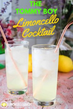The Tommy Boy Limoncello Cocktail This is a cocktail recipe for a modified Tom Collins (a Limoncello Collins) that you can consume when you are fully prepared to do so. This also turns a stodgy old drink into an ode to one of the all-t Limoncello Cocktails, Drinks With Lemoncello, Fun Cocktails, Summer Drinks, Tom Collins, Lemonchello Drinks, Cocktail Drinks, Cocktail Recipes, Recipes