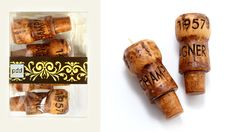 Champagne Cork Candles.