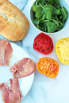 "Open-Face Heirloom Tomato Sandwiches, AKA ""The Kleinwich"""