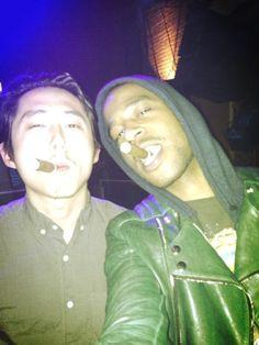 Steven Yeun and Kid Cudi Manado, Travis Scott Album, Day And Nite, Hip Hop Classics, Rap Wallpaper, Kid Cudi, Man On The Moon, Celebrity Wallpapers, Hip Hop Rap