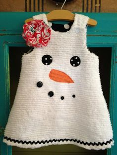 SNOWMAN Holiday Winter Chenille Snowman Jumper