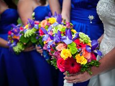 Love royal blue with bright colors!